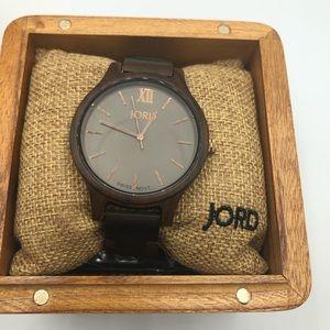NWT JORD Frankie series brown Wood watch